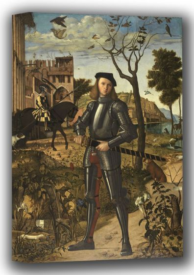 Carpaccio, Vittore: Young Knight (Giovane Cavaliere). Fine Art Canvas. Sizes: A4/A3/A2/A1 (001866)